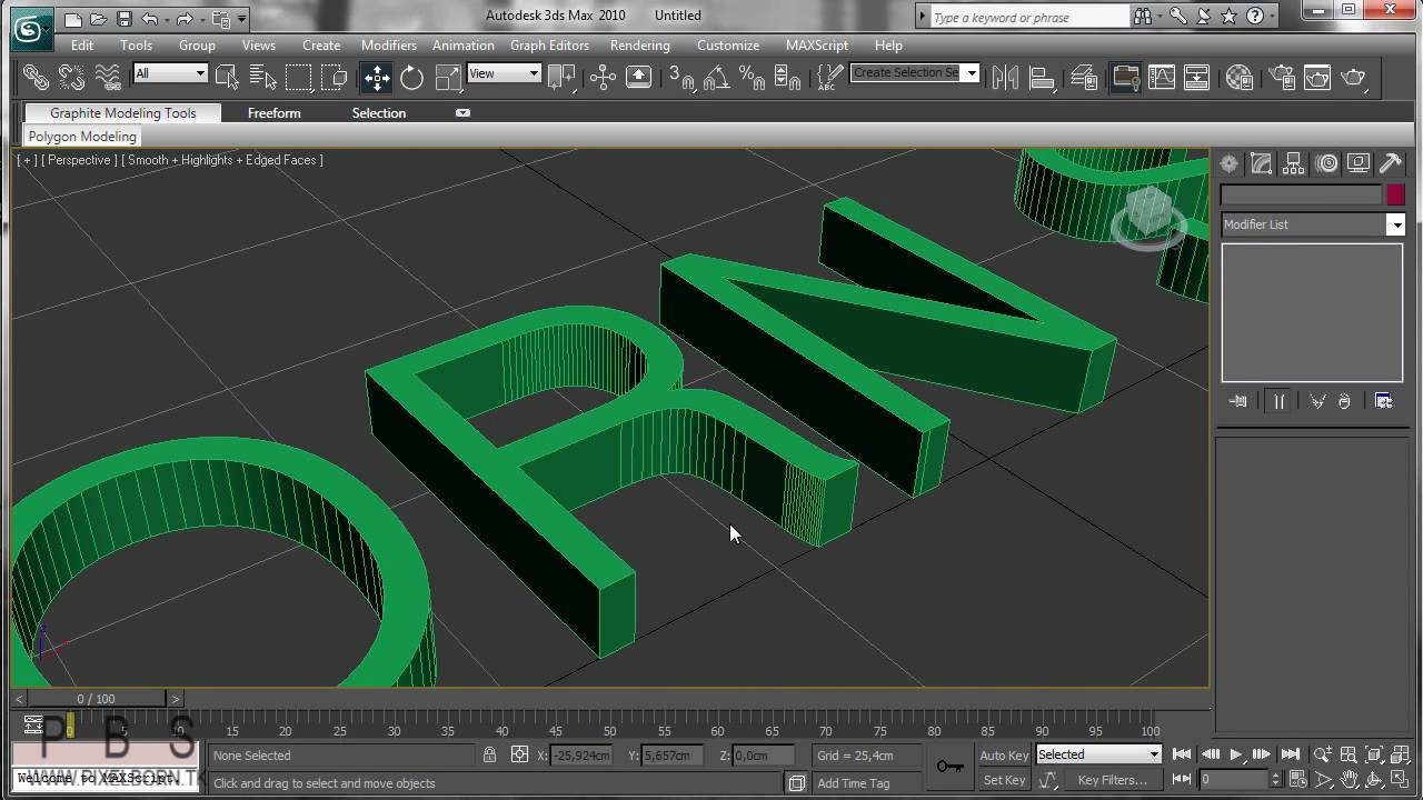 3d studio max tutorial text and logo pt 1 youtube for Studio max 3d