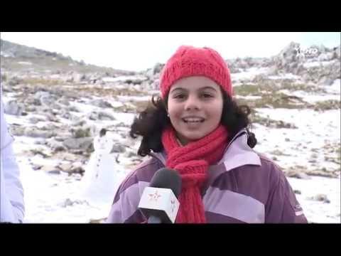 جبل غرغيز بتطوان يكتسي حلة بيضاء بعد تساقط الثلوج
