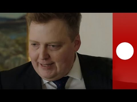 Iceland PM storms out of interview when questioned re. tax haven