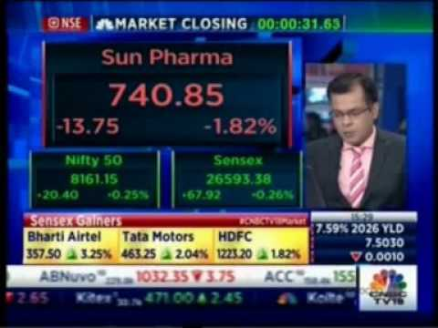 Mr. Gautam Sinha Roy on CNBC for the show NSE Closing Bell