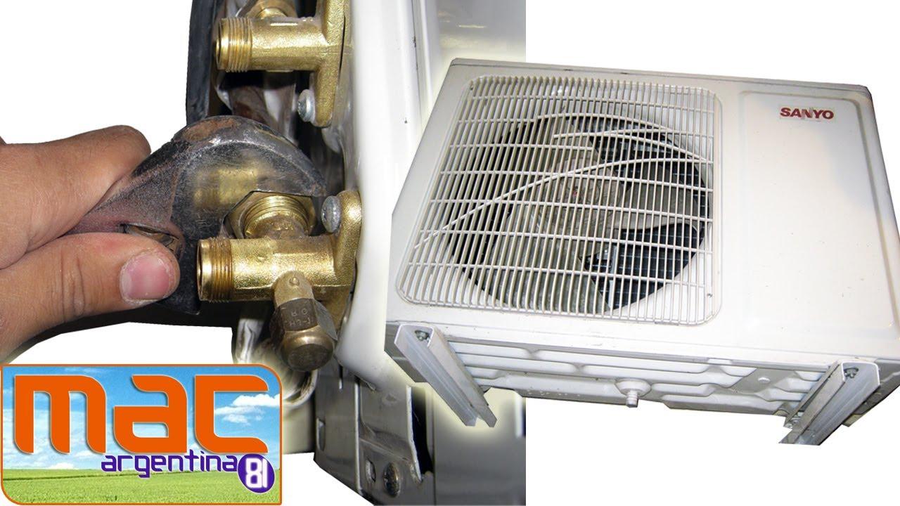 Como des instalar un aire acondicionado youtube for Como montar un aire acondicionado