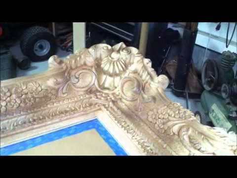 How To Paint A Gold Mirror Frame With Chalk Paint