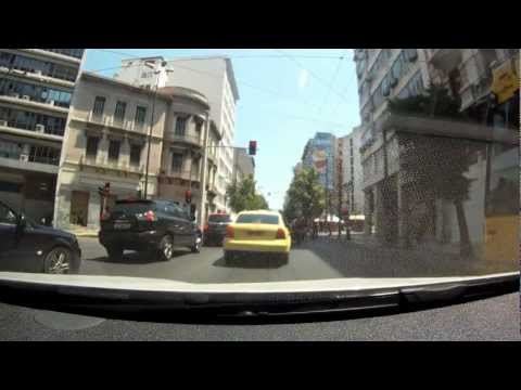 Driving in center of Athens, Greece [1080p]