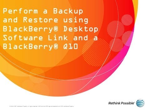 BlackBerry Q10 : Backup and Restore