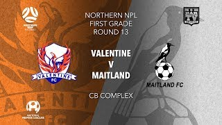 2019 NPL Northern NSW u20s and 1st Grade Round 13 Valentine Phoenix v Maitland Magpies