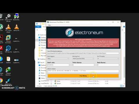 How to Mine Electroneum in Windows    Electroneum Mining    Crypto Mining