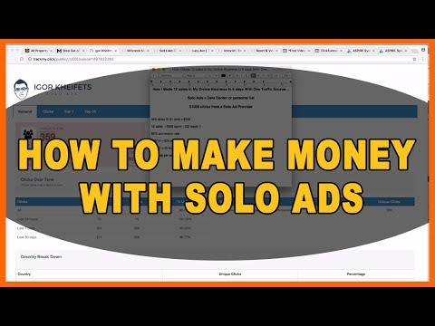 Solo Ads Training | How To Make Money With Solo Ads (12 sales from 222 leads)