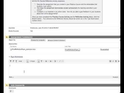 How to submit assignments in Blackboard - YouTube