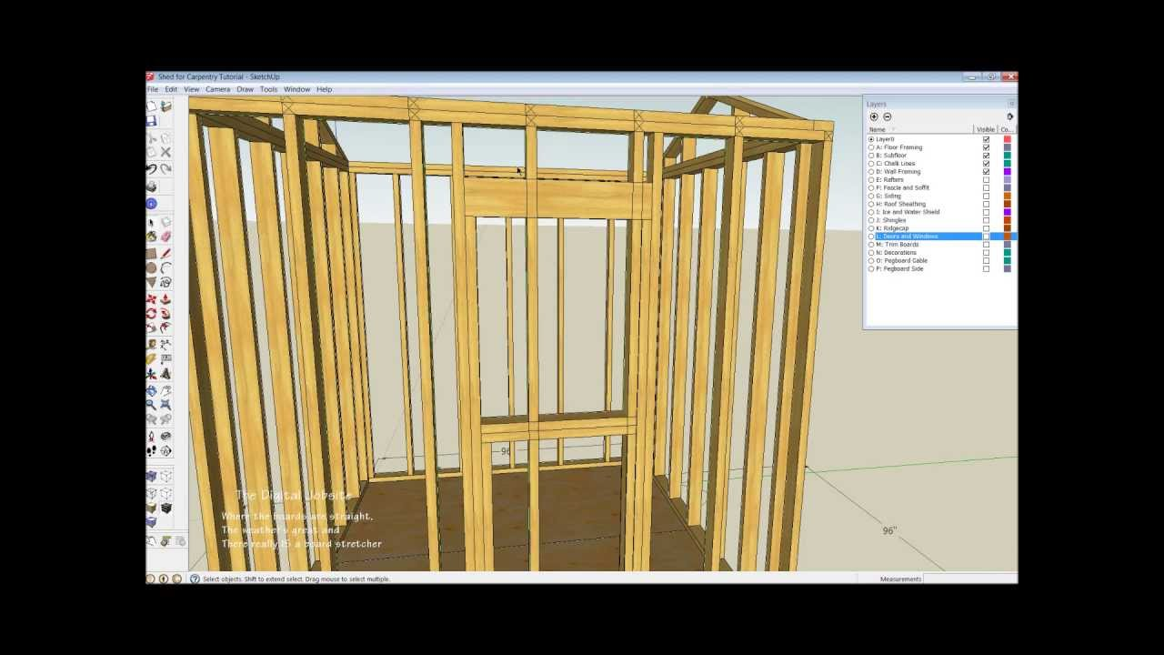shed wall layout and framing basics part two youtube