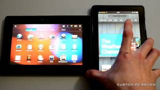 Amazon Kindle Fire vs Blackberry Playbook