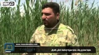 مصر العربية   عملية استخراج رفات ضحايا مجزرة ارتكبها داعش بالعراق