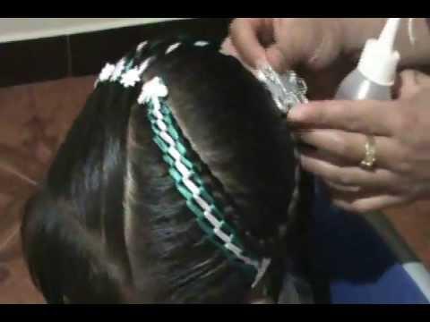 Colas en espiral peinados para niñas paso a paso