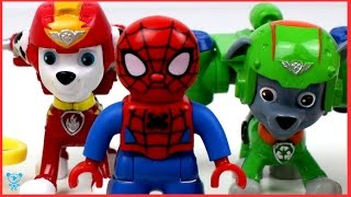 Paw Patrol Air Rescue Spiderman and Thomas unbox Paw Patrol Toys - Paw Patrol Video for kids