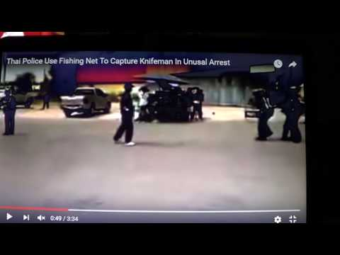 Super Cops Save Crazy Man With Knife - Liberal Cheer A Mean Gun Was Not Used - Idiots