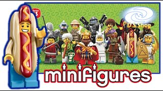 Abriendo 5 Sobres Minifiguras Lego Serie 13 Video #3 Review español Opening Bag Unboxing Minifigure
