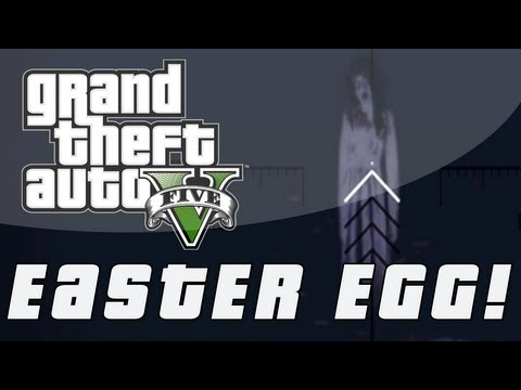 Grand Theft Auto 5   Ghost of Mt. Gordon Easter Egg - Scary Ghost (GTA V)