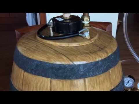 How to Force Carbonate Homebrew in a Pressure Barrel. Wooden Cask Edition. in 1 Minute