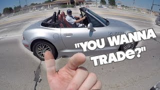 BMW Z3 WANTS TO TRADE FOR GROM! | SURPRISE!  | BIKE WASH!