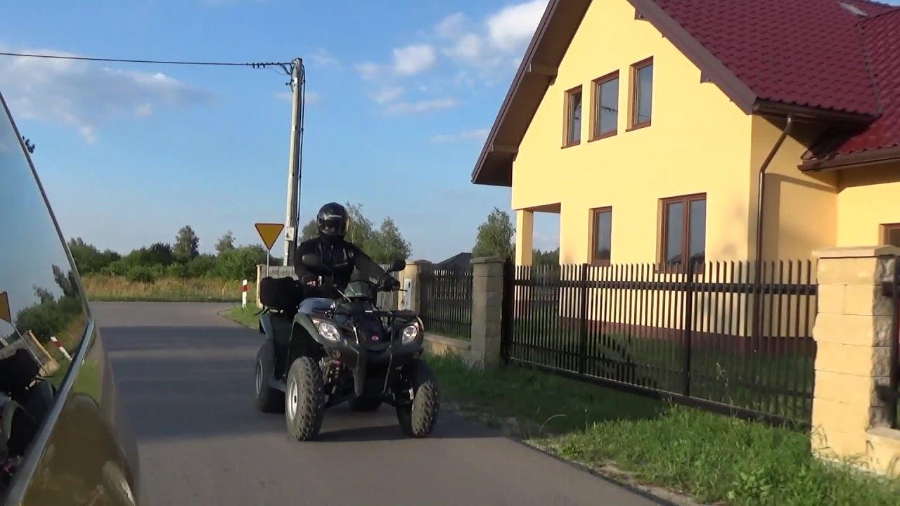 ATV Fun ride - filming from car