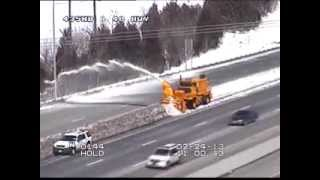 MoDOT Snow Blowing Feb. 24, 2013