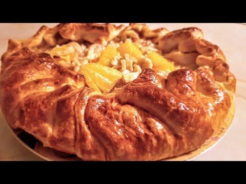 Пирог Фруктовый десерт цыганка готовит. Gipsy cuisine.