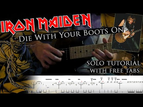 How to play Adrian Smith's solos #18 Die With Your Boots On (with tabs and backing tracks)
