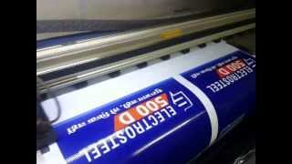 How Flex Banner is printed from Flex Printing Machine. Solvent Flex Banner printing process