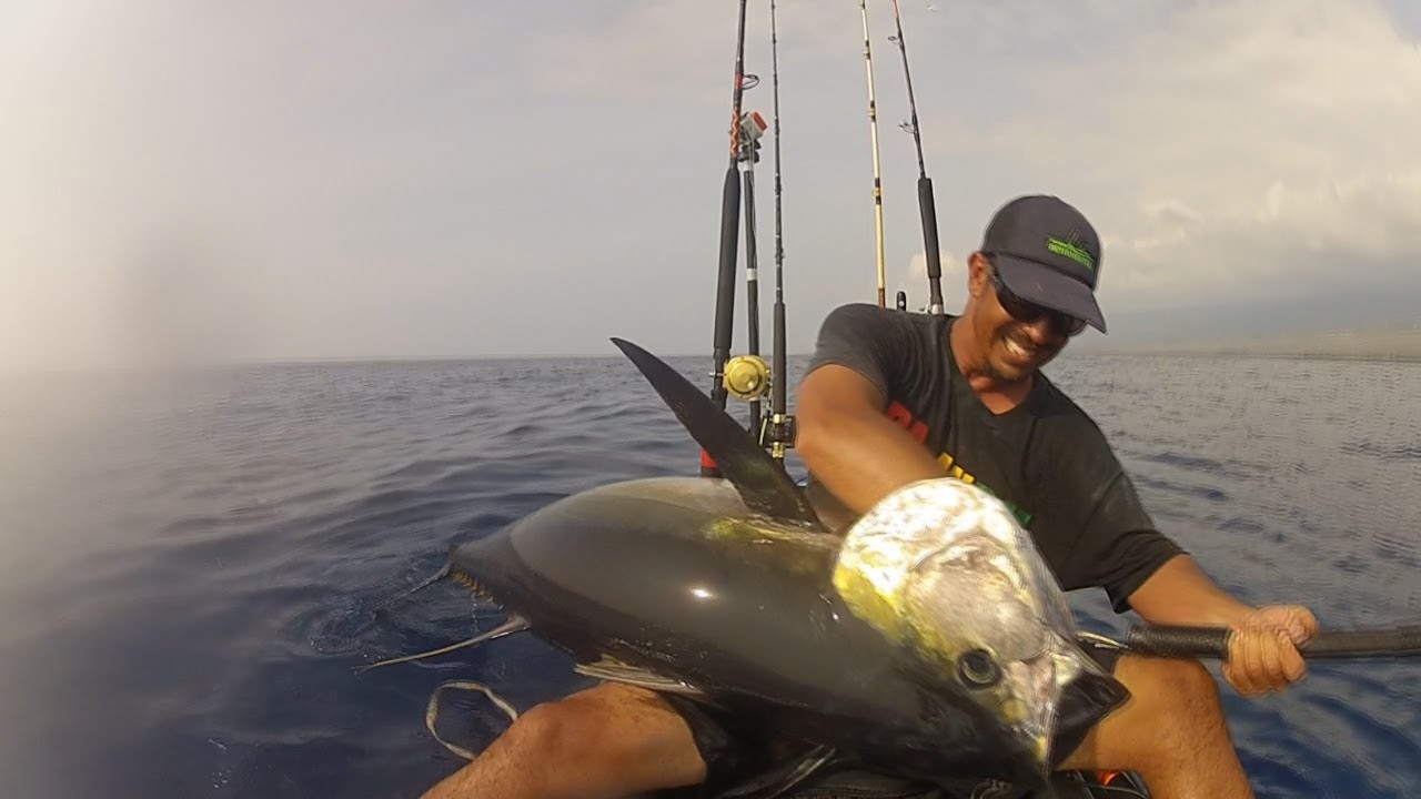 Extreme kayak fishing 114 ahi youtube for Kayak fishing hawaii