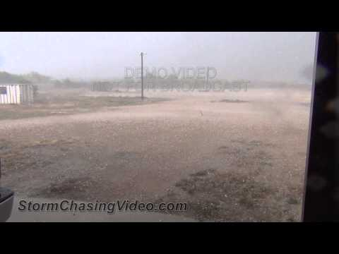 5/9/2013 Ballinger, TX Damaging Baseball Size Hail B-Roll
