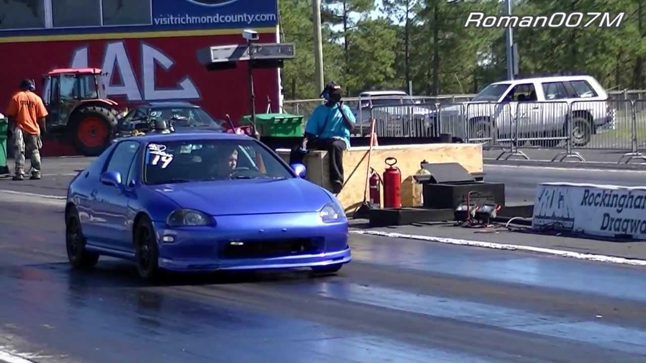 Honda Del Sol vs Honda Civic Drag Racing, HD - YouTube