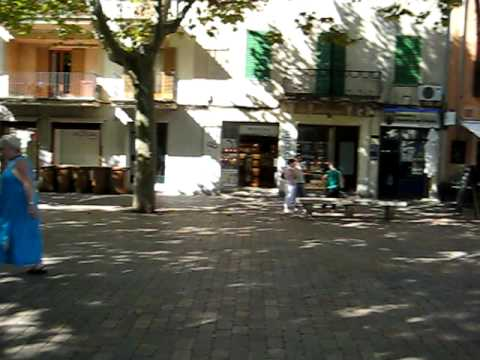 Square in old alcudia town