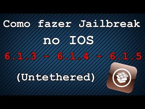 Como Fazer Jailbreak Untethered IOS 6.1.3. 6.1.4. 6.1.5