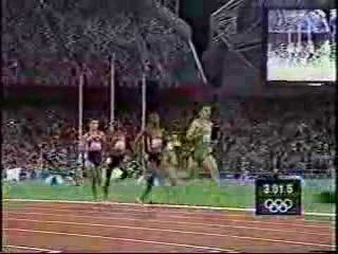 2000 Sydney Olympic Games - Men&#039;s 1500m Noah Ngeny wins gold