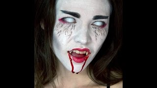Vampire Geisha Halloween Make up