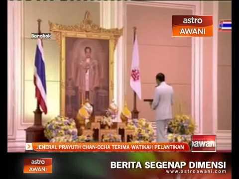 Jeneral Prayuth Chan-Ocha terima watikah pelantikan