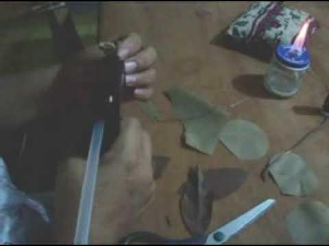 como hacer una flor en tela