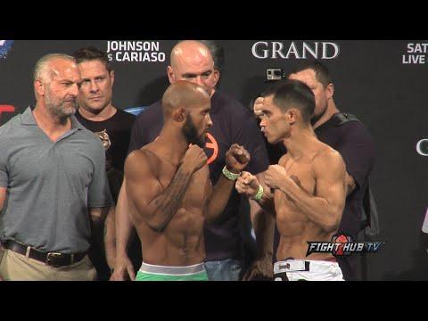 UFC 178 weigh ins  face off Demetrious Johnson vs Chris Cariaso