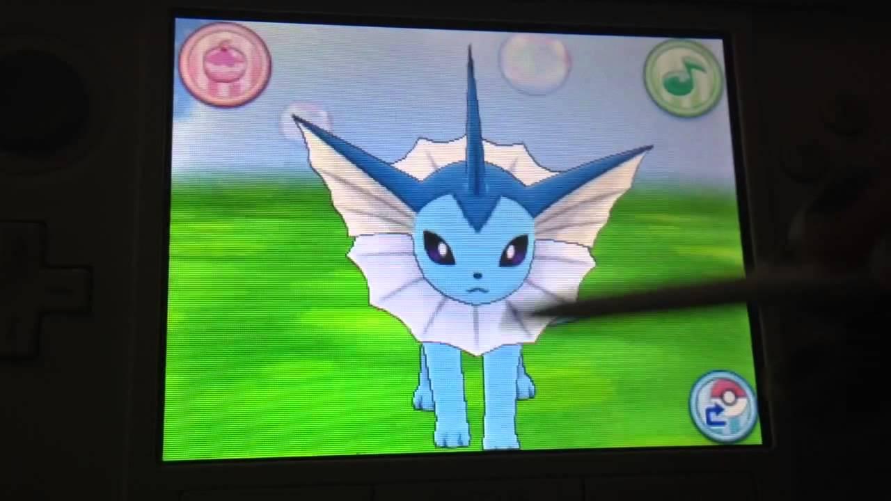 Pokemon x And y Vaporeon Pokemon Amie Vaporeon