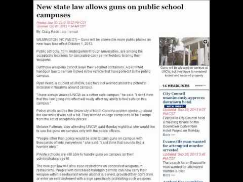 New state law allows guns on public school campuses