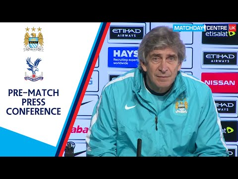 Manchester City vs Crystal Palace : Manuel Pellegrini Press Conference