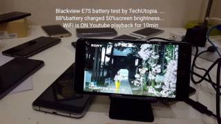 Blackview E7S battery test/screen on time/life/drain/discharging/youtube video playback