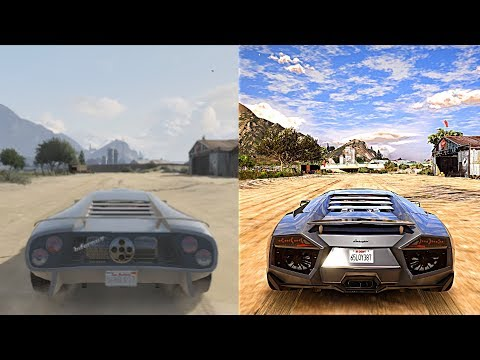 ►GTA 5 Xbox 360 vs Ultra Realistic 4K 60FPS PC Graphics | 2018 REDUX Gameplay!