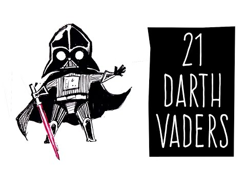 Draw 21 Darth Vaders!