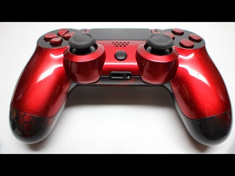 Red Hex Custom PS4 Controller, Available NOW on ProModz.com