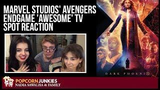 Marvel Studios' Avengers Endgame 'Awesome' TV Spot - The Popcorn Junkies Family Reaction
