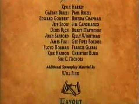 The Hunchback of Notre Dame 1996 (Disney) - End &amp; Credits