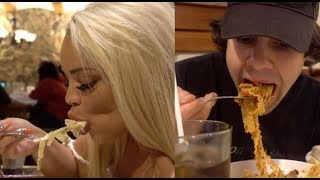 OLIVE GARDEN MUKBANG! (DAVID VS TRISH) | WHOSE A BETTER EATER?