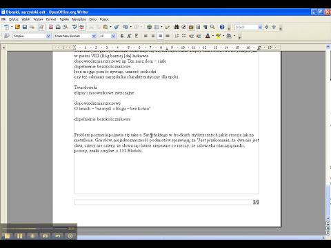 Numerowanie stron OpenOffice