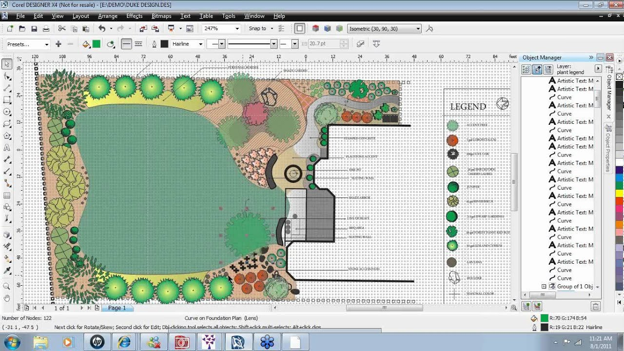 Earthscapes landscape design software youtube for Site plan design software