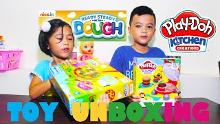 TOY  UNBOXING - PLAY DOH & NICK JR  DOUGH